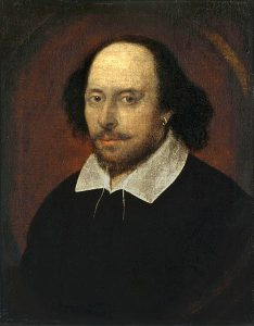 Painting of an Elizabethan man believed to be William Shakespeare.