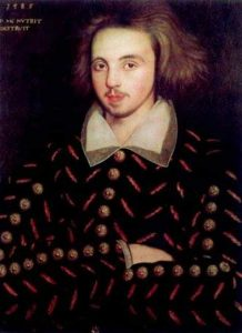 Painting of a young Elizabethan man believed to be Christopher Marlowe