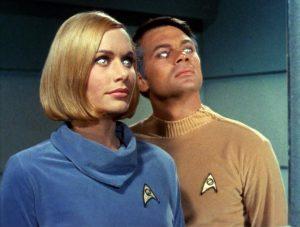 Dr Elizabeth Dehner and Lt Cmdr Gary Mitchell