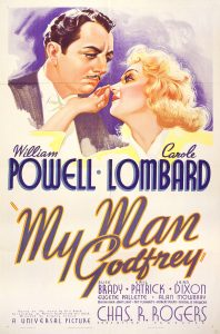 Poster for My Man Godfrey (1936) showing William Powell and Carole Lombard
