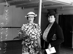 Mrs Mabel Freer and companion