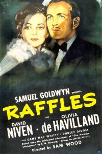 Poster for Raffles (1939) showing David Niven and Olivia De Havilland
