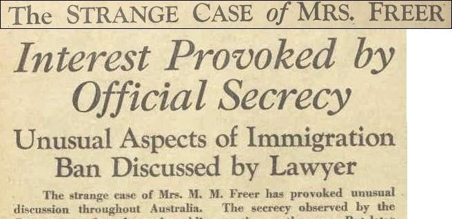 Dictating Morality: the exclusion of Mrs Mabel Freer