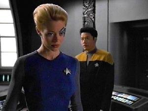 Harry Kim with Seven of Nine