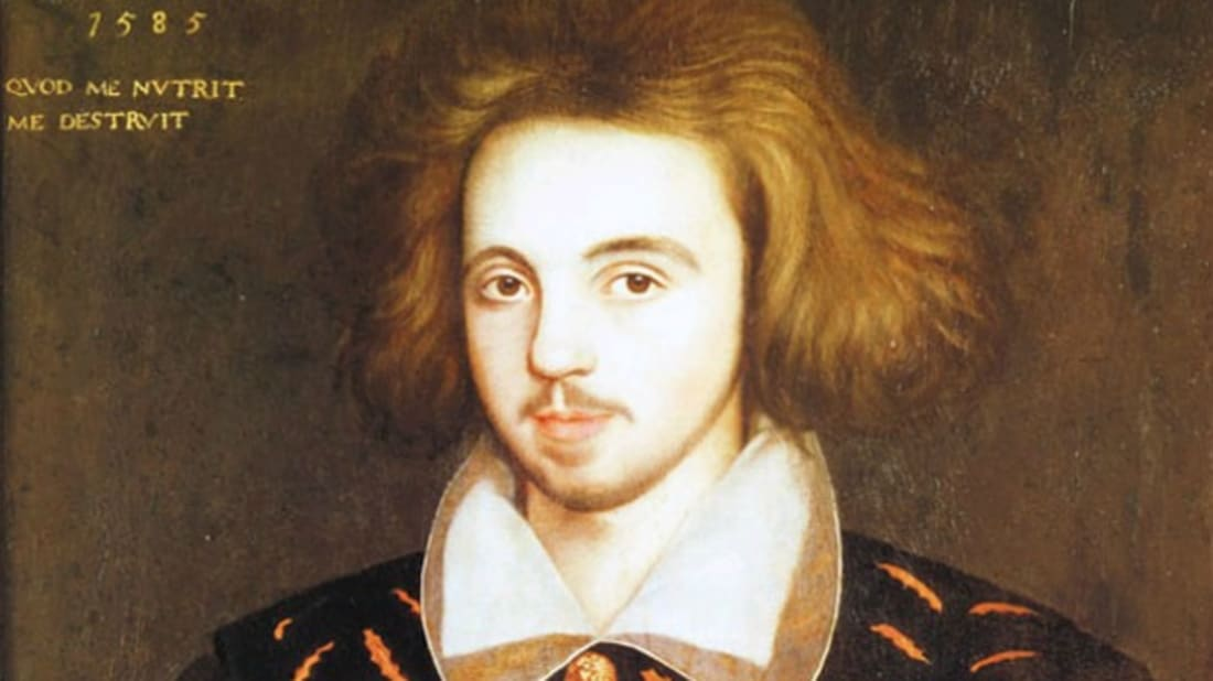 'What nourishes me, destroys me.' Is this a portrait of Christopher Marlowe?