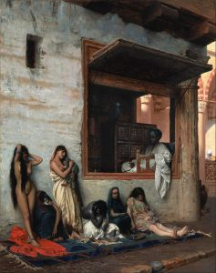 Painting of female slaves in the pre-modern middle east.