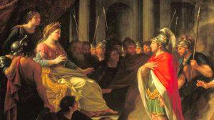 Dido, Queen of Carthage meets Aeneas