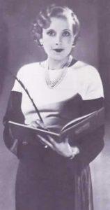B&W photograph of Barbara Cartland as a young woman