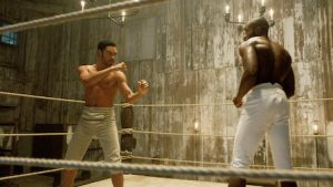 Boxing scene from Bridgerton