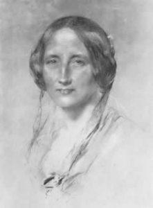 Etching of Elizabeth Gaskell