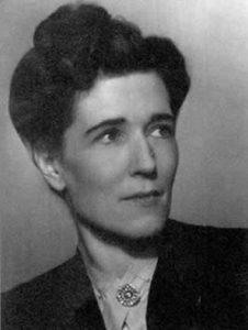 B&W photograph of Georgette Heyer