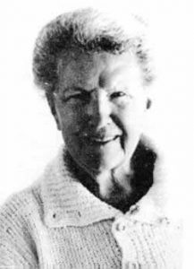 B&W photograph of Eileen Mary Challans (aka Mary Renault) in her 50s